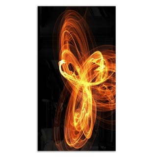 Designart 'Fractal Fire Pattern Painted in Air' Large Abstract Metal Wall Art