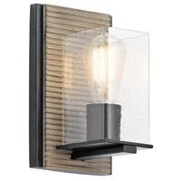 Kichler Lighting Millwright Collection 1-light Distressed Antique Gray Wall Sconce