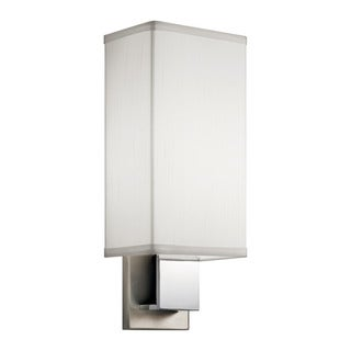Kichler Lighting Santiago Collection 1-light Brushed Nickel/Chrome Fluorescent Wall Sconce