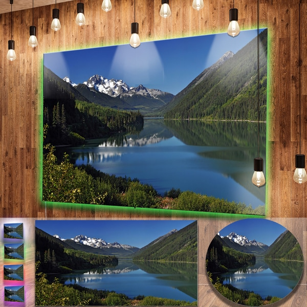 Shop Designart 'Calm Clear Lake with Mountains' Extra Large