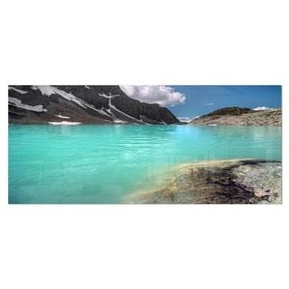 Designart 'Crystal Clear Mountain Lake' Landscape Metal Wall Art