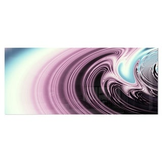 Designart 'Unique Purple Fractal Art Pattern' Abstract Aluminium Art Print