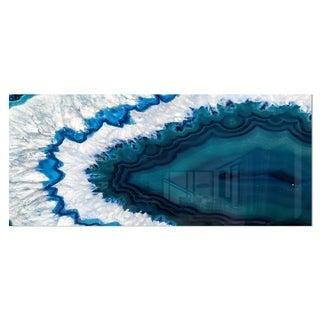 Designart 'Blue Brazilian Geode' Abstract Photography Metal Wall Art Print