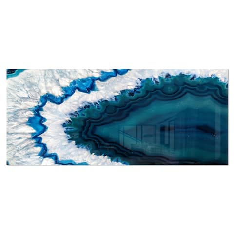 Strick & Bolton 'Blue Brazilian Geode' Abstract Photography Metal Wall Art Print