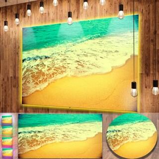 Designart 'Beautiful Sea Summer Background' Large Seashore Metal Wall Art