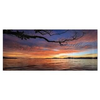 Designart 'Beautiful Sunset Beach In Phuket' Photography Seashore Metal Wall Art Print