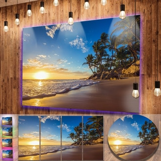 Shop Designart Paradise Tropical Island Beach Sunrise