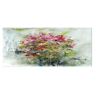 Designart 'Bouquets Of Roses Painting Art' Floral Aluminium Art Print