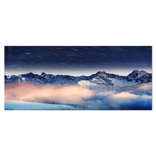 Designart 'Milky Way Over Frosted Mountains' Landscape Metal Wall Art