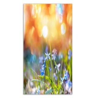 Designart 'Little Flowers Meadow with Snowdrops' Contemporary Flower Metal Wall Art