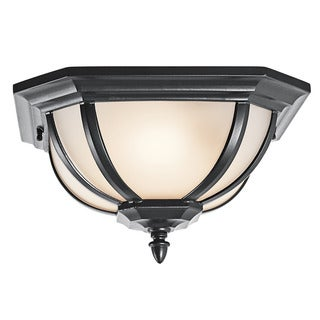Kichler Lighting Salisbury Collection 2-light Black Outdoor Flush Mount