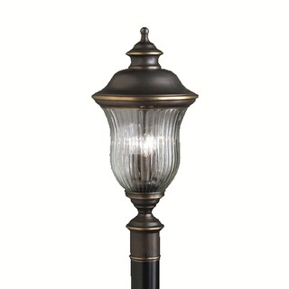 Kichler Lighting Sausalito Collection 3-light Olde Bronze Outdoor Post Mount