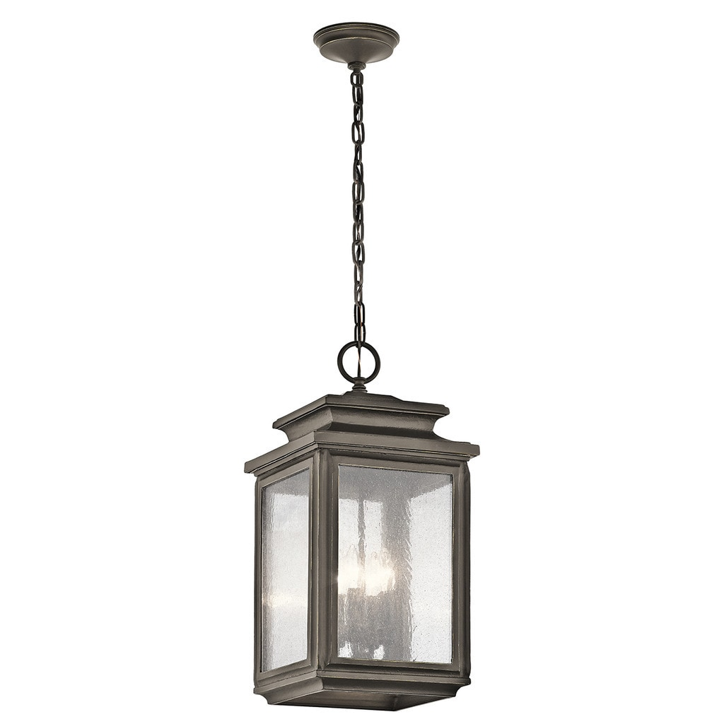 Shop Black Friday Deals On Kichler Lighting Wiscombe Park Collection 4 Light Olde Bronze Outdoor Pendant Overstock 13825539