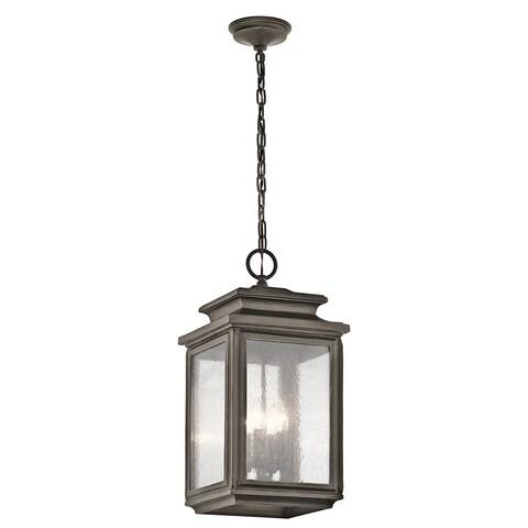Kichler Lighting Wiscombe Park Collection 4-light Olde Bronze Outdoor Pendant