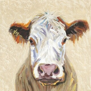 Y-Decor 'Hereford Cow' Durable Wood Framed Original Wall Artwork