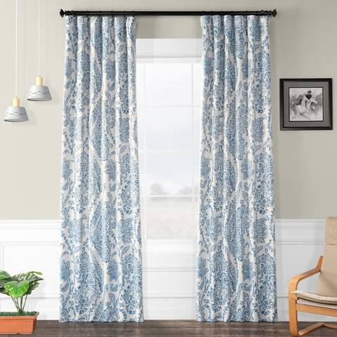 Exclusive Fabrics Tea Time China Blue Blackout Curtain Panel Pair