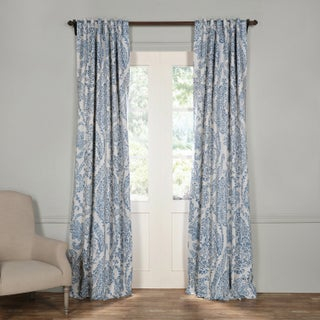 Exclusive Fabrics Tea Time China Blue Blackout Curtain Panel Pair (3 options available)