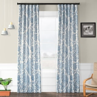 Exclusive Fabrics Tea Time China Blue Blackout Curtain Panel Pair