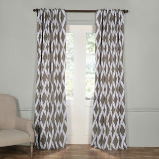 Exclusive Fabrics Grey Crosshatch Blackout Curtain Panel Pair