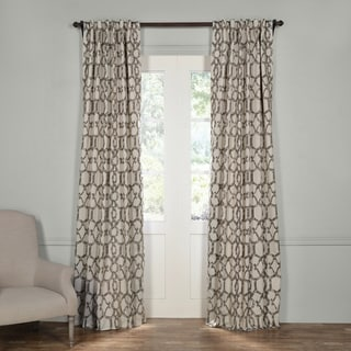 Exclusive Fabrics Imperial Fossil Beige Blackout Curtain Panel Pair