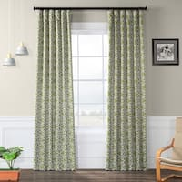 Exclusive Fabrics Secret Garden Leaf Green Blackout Curtain Panel Pair