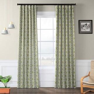 Exclusive Fabrics Secret Garden Leaf Green Blackout Curtain Panel Pair