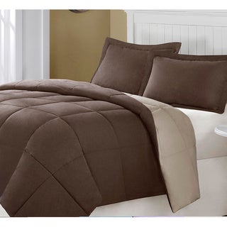 Superior All-season Luxurious Reversible Down Alternative Hypoallergenic King Size Comforter Black/Gray (As Is Item)