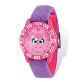 Sesame Street Kids Abby Cadabby Purple Band Time Teacher Watch