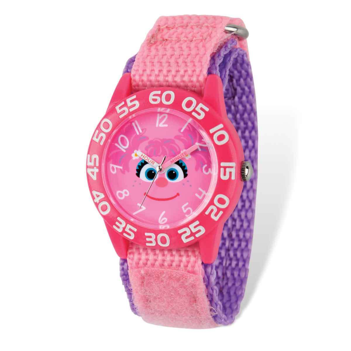 Sesame Street Kids Abby Cadabby Time Teacher Watch (Time ...
