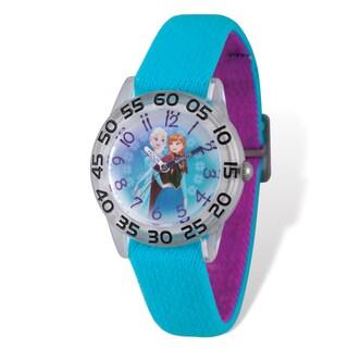 Disney Kids Frozen Elsa & Anna Stretch Time Teacher Watch