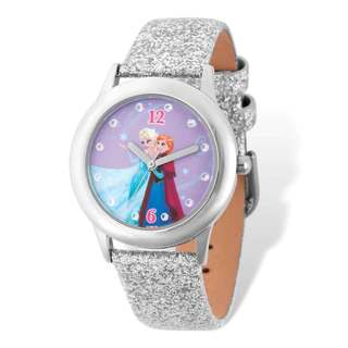 Disney Silver-tone Frozen Elsa/Anna Tween Watch