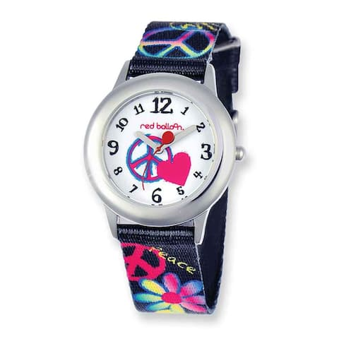 Sesame Street Red Balloon Peace Printed Band Tween 30mm Case Watch - White