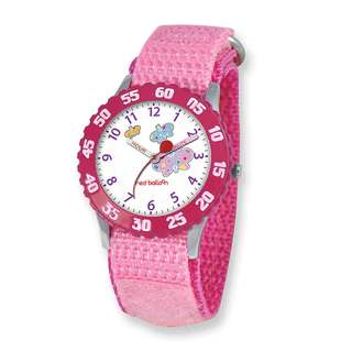 Red Balloon Kids Butterfly Pink Hook and Loop Band Time Teacher Watch
