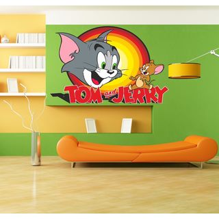 Tom & Jerry Full Color Decal, Full color sticker, colored Tom & Jerry Sticker Decal size 22x26