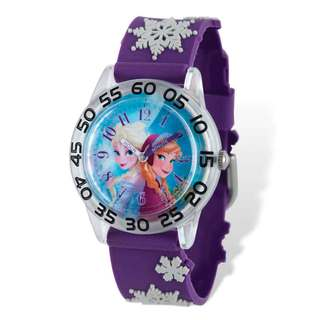 Disney Frozen Elsa/Anna Acrylic Purple Time Teacher Watch