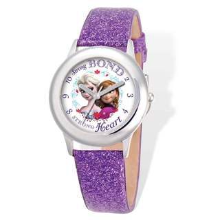 Disney Frozen Elsa/Anna Leather Tween Watch