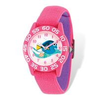 Disney Kids Nemo & Dory Pink Stretch Time Teacher Watch