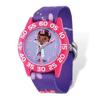 Disney Doc McStuffins Acrylic Purple Floral Time Teacher Watch