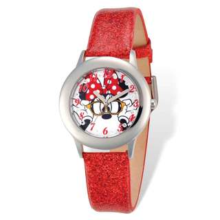 Disney Minnie Mouse Red Band Tween Watch|https://ak1.ostkcdn.com/images/products/13827932/P20473403.jpg?impolicy=medium