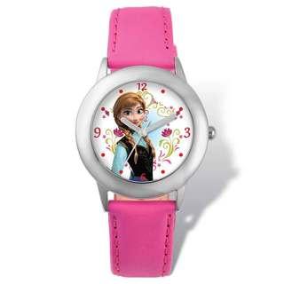 Disney Frozen Anna Pink Leather Tween Watch