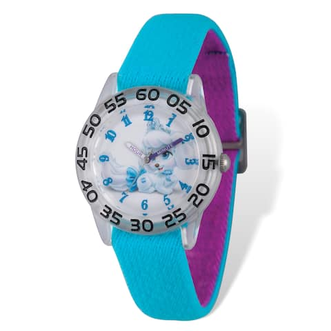 Disney Kids Palace Pets Pumpkin Stretch Band Time Teacher Watch