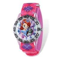 Disney Princess Sophia/Bunny Acrylic Pink Time Teacher Watch