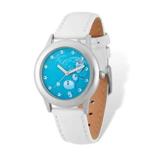Disney Frozen Olaf White Leather Tween Watch