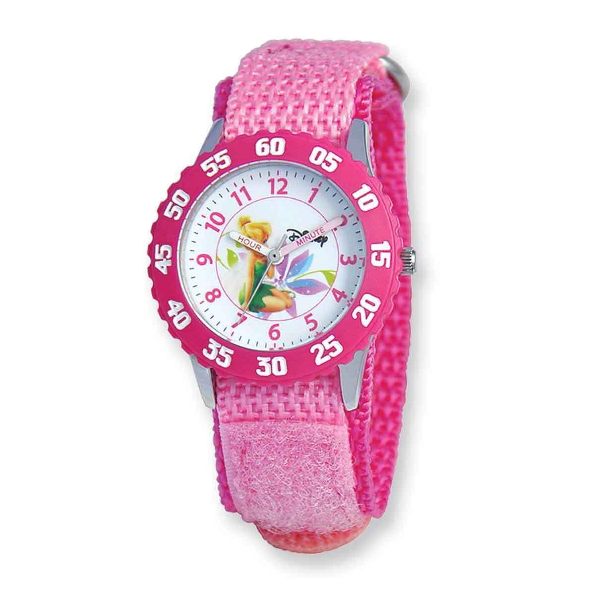 Disney Kids Tinker Bell Pink Hook and Loop Band Time Teac...