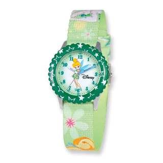 Disney Tinker Bell Dreamland Printed Fabric Band Time Teacher Watch