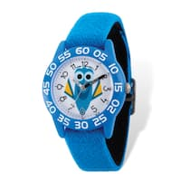 Disney Kids Dory Blue Stretch Band Time Teacher Watch