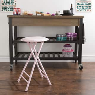 Trademark Home Collection 24 x 14 Cushioned Folding Stool (Option: Red) https://ak1.ostkcdn.com/images/products/13827988/P20473439.jpg?impolicy=medium