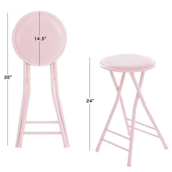 Shop Trademark Home Collection 24 X 14 Cushioned Folding Stool