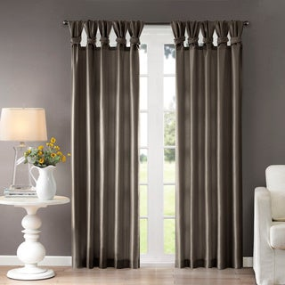 """Madison Park Natalie Twisted Tab Curtain Panel 50x84"""" in Pewter(As Is Item)"""