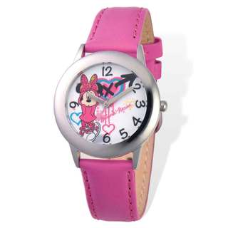 Disney Minnie Mouse Pink Leather Tween Watch